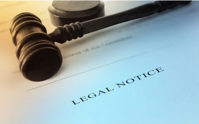 Legal Notice banner