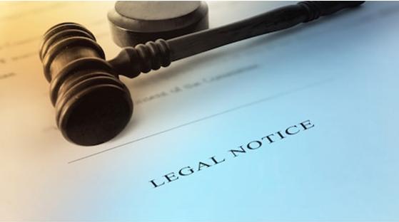 Legal Notice banner